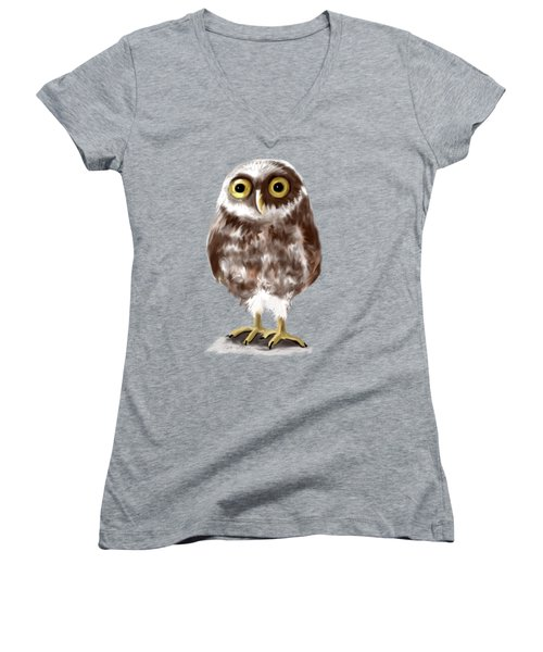 Burrowing Owl Women's V-Neck (Athletic Fit)