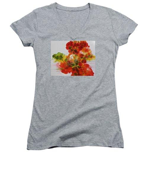 Burst Of Nature, II Women's V-Neck T-Shirt (Junior Cut) by Carolyn Rosenberger