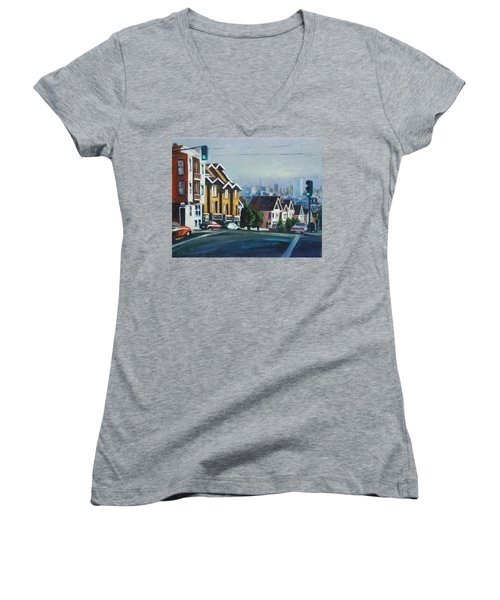 Bush Street Women's V-Neck T-Shirt
