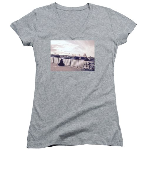 Busking Place Women's V-Neck