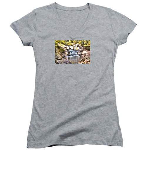 Bust Your Butt Falls Women's V-Neck (Athletic Fit)