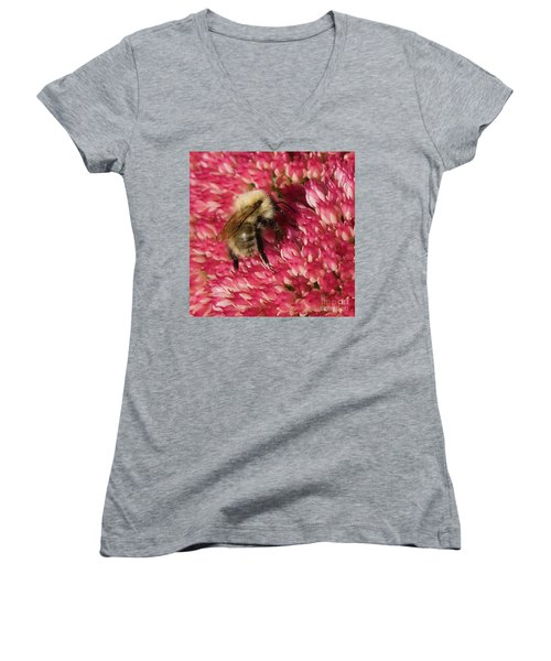 Busy Bee Women's V-Neck (Athletic Fit)