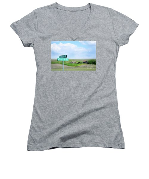 Busy Intersection Women's V-Neck T-Shirt