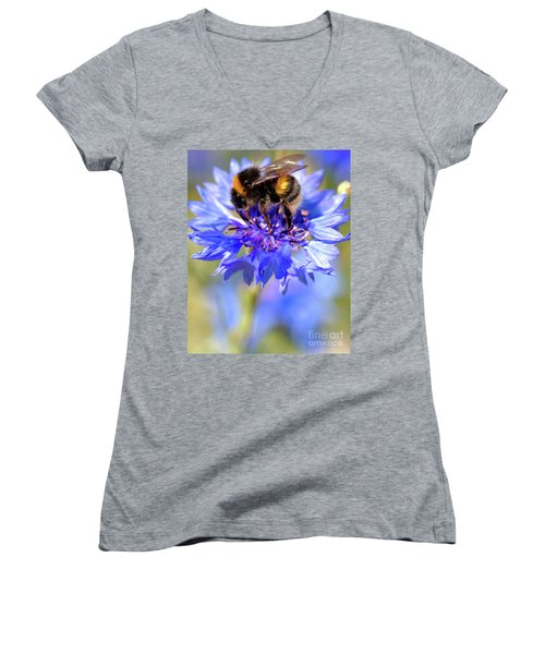 Busy Little Bee Women's V-Neck (Athletic Fit)