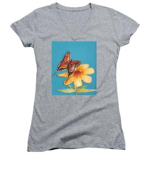 Butterflower Women's V-Neck