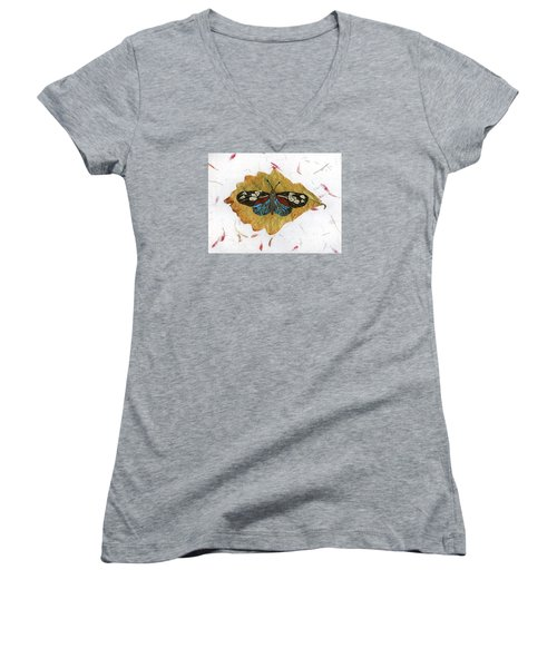 Butterfly #2 Women's V-Neck (Athletic Fit)