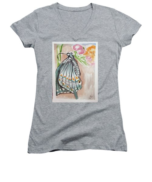 Butterfly 4 Women's V-Neck