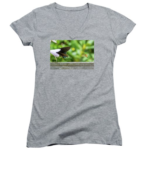 Butterfly And Bee Women's V-Neck
