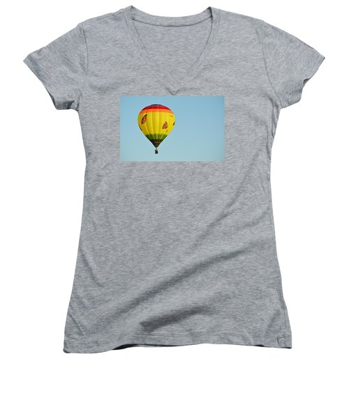 Women's V-Neck featuring the photograph Butterfly Designs by AJ Schibig