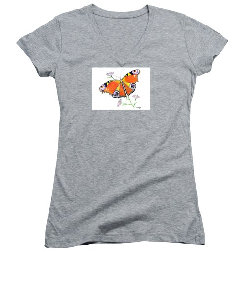 Butterfly Dressed For A Masquerade Ball Women's V-Neck T-Shirt