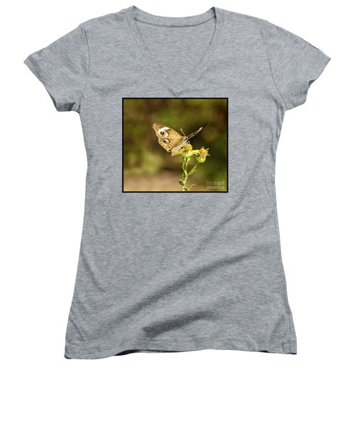 Butterfly In Bokeh Women's V-Neck (Athletic Fit)