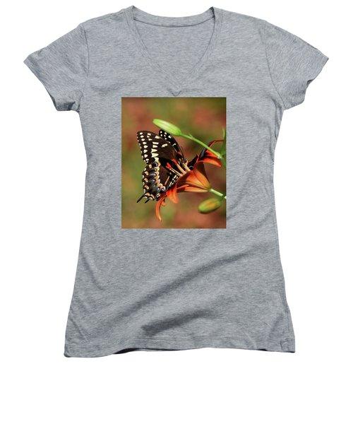 Butterfly Kiss 2 Women's V-Neck T-Shirt