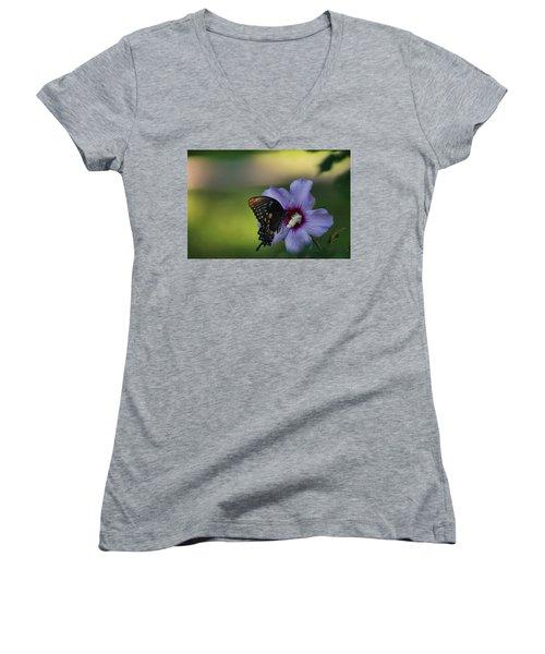 Butterfly Lunch Women's V-Neck T-Shirt