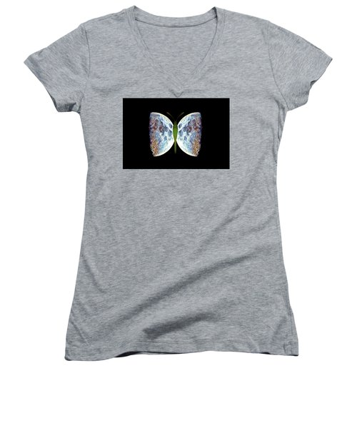 Fly Me To The Moon Women's V-Neck
