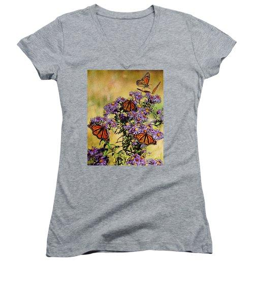 Butterfly Party Women's V-Neck T-Shirt