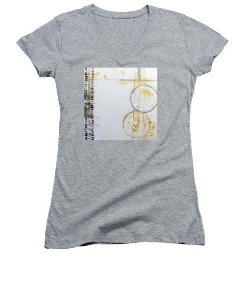 Butterfly Tracks Women's V-Neck T-Shirt (Junior Cut) by Gallery Messina