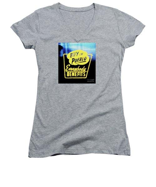 Buy In Pueblo Women's V-Neck T-Shirt