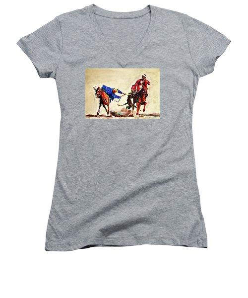 Buzkashi, A Power Game Women's V-Neck T-Shirt