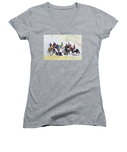 Buzkashi Sport Women's V-Neck (Athletic Fit)