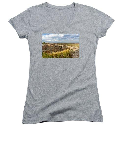 By Morning Light Women's V-Neck T-Shirt