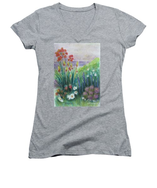 By The Garden Wall Women's V-Neck (Athletic Fit)