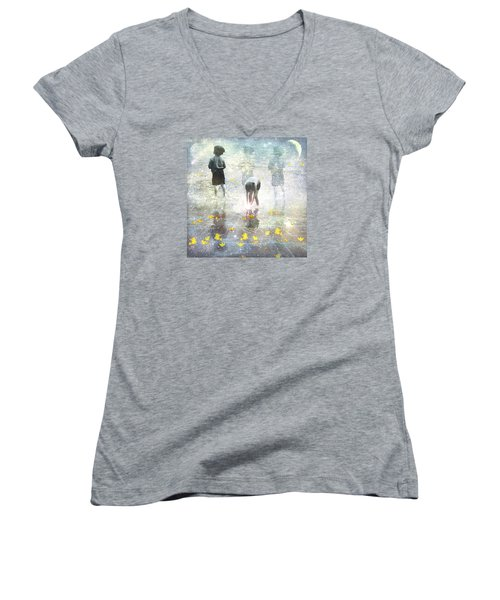 By The Light Of The Magical Moon Women's V-Neck T-Shirt