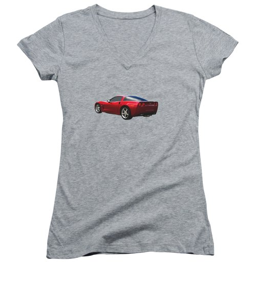 C-6 Corvette And The Cosmos Women's V-Neck