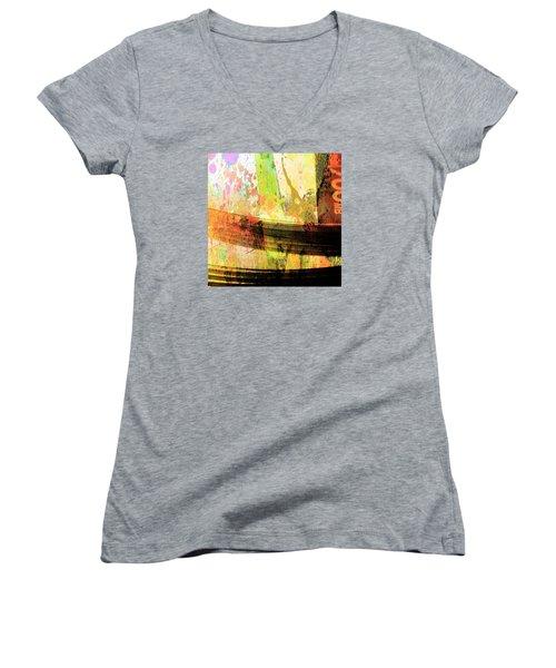 C D Art Women's V-Neck T-Shirt (Junior Cut) by Bob Pardue