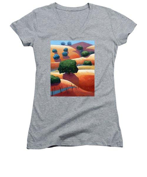 Ca Rollers Trip I Women's V-Neck T-Shirt (Junior Cut) by Gary Coleman