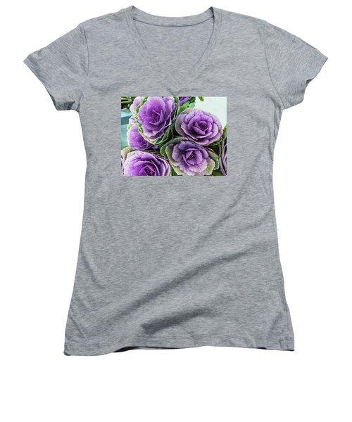 Cabbage Flower Women's V-Neck