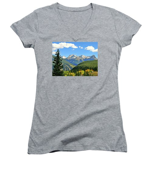 Cabin In The San Juans Women's V-Neck T-Shirt
