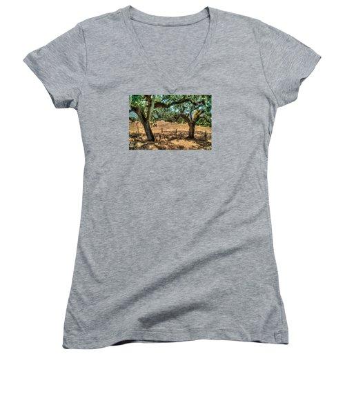 Cachagua  Women's V-Neck T-Shirt (Junior Cut) by Derek Dean