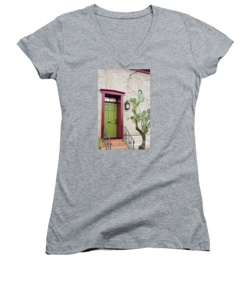 Cactus And Doorway Women's V-Neck (Athletic Fit)