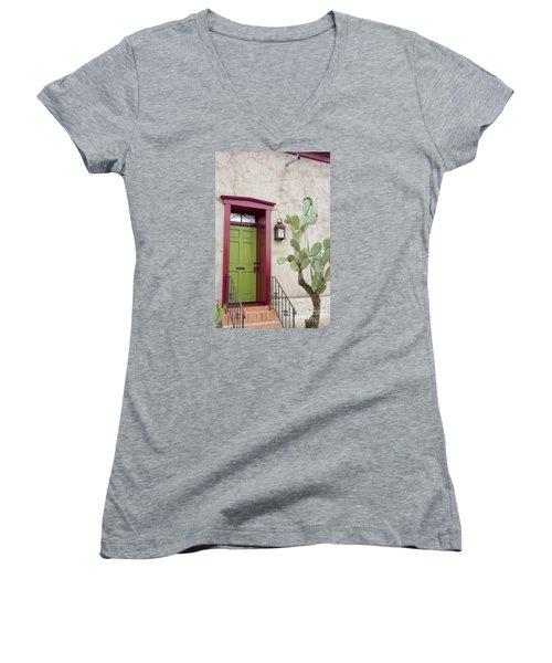 Cactus And Doorway Women's V-Neck T-Shirt