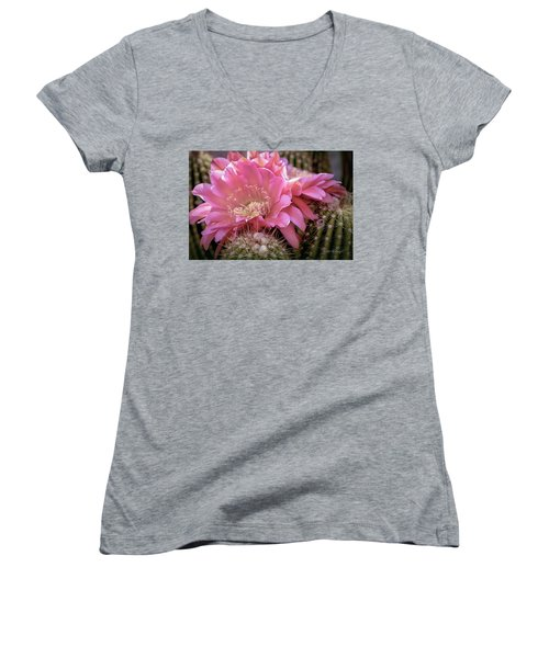 Cactus Bloom Women's V-Neck