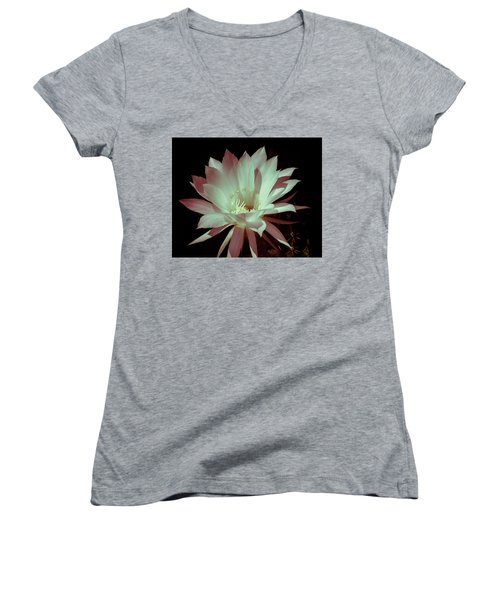 Cactus Flower Women's V-Neck