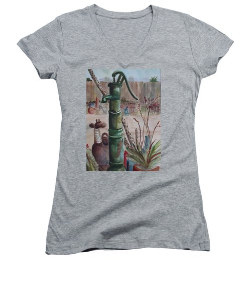Cactus Joes' Pump Women's V-Neck T-Shirt