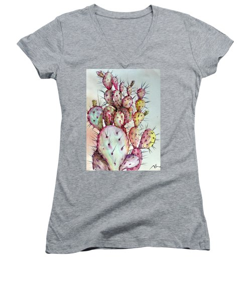 Cactus Women's V-Neck T-Shirt