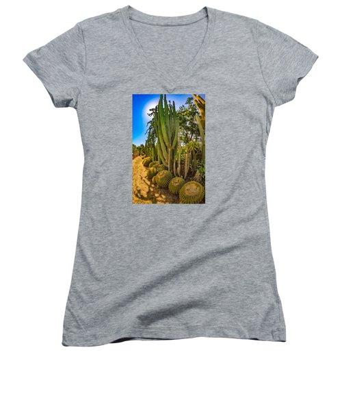 Cactus Promenade Women's V-Neck (Athletic Fit)