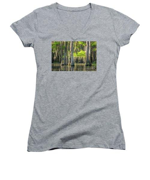 Caddo Swamp 1 Women's V-Neck T-Shirt