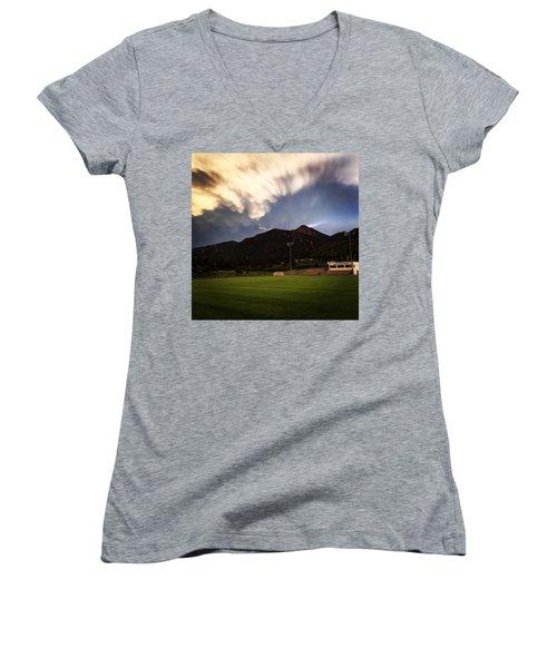 Cadet Soccer Stadium Women's V-Neck T-Shirt