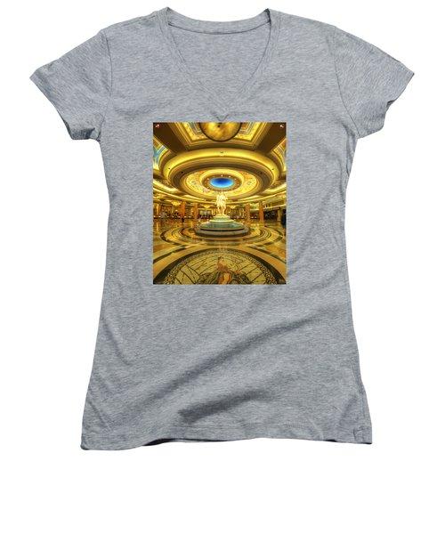 Caesar's Grand Lobby Women's V-Neck T-Shirt