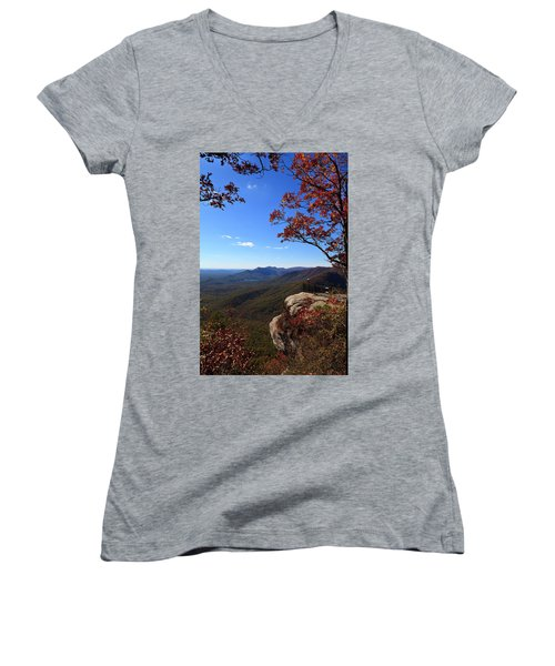 Caesars Head State Park In Upstate South Carolina Women's V-Neck (Athletic Fit)