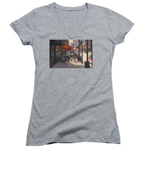 Cafe Lodo Women's V-Neck T-Shirt