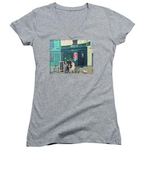 Cafe Odette Women's V-Neck T-Shirt