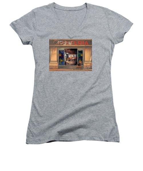 Cafeteria Women's V-Neck T-Shirt