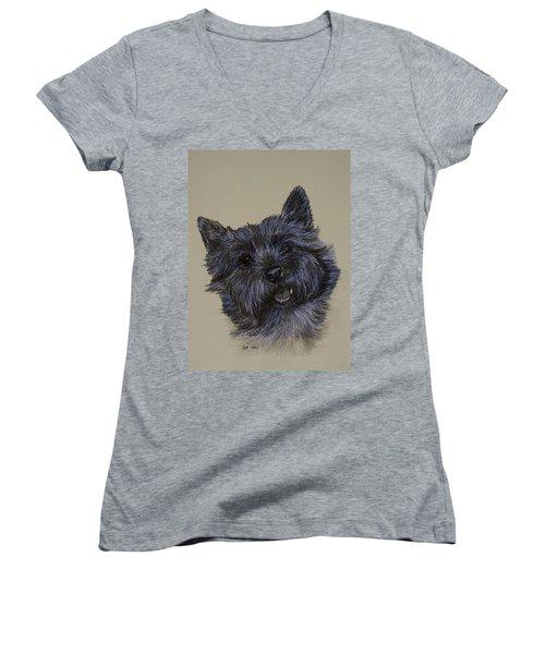 Cairn Terrier Women's V-Neck T-Shirt