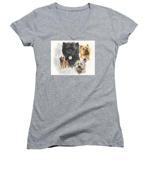 Cairn Terrier Revamp Women's V-Neck