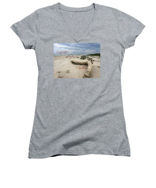 Calallen 40th Reunion - D Women's V-Neck T-Shirt (Junior Cut) by Debra Martz