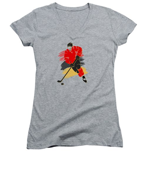Calgary Flames Player Shirt Women's V-Neck T-Shirt